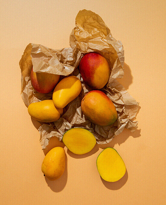 Mangos over paper