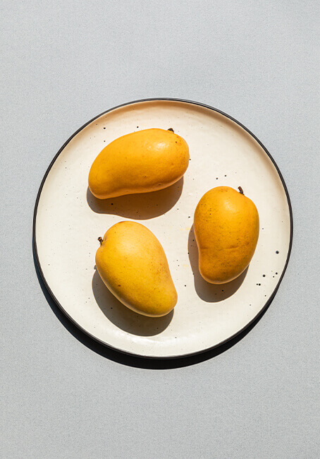 Madies mangos in a plate